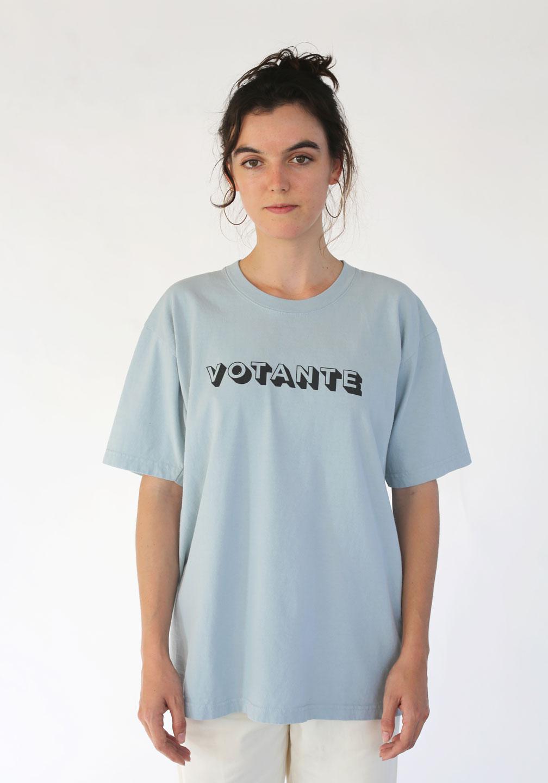 Attn-Votante-Trash-Tee-Blue