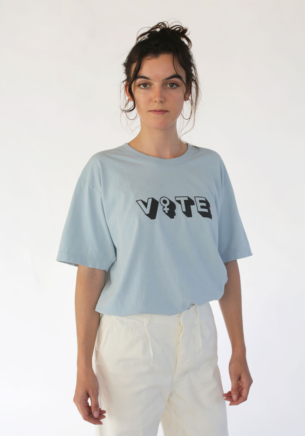 Attn-Vote-Trash-Tee-Blue