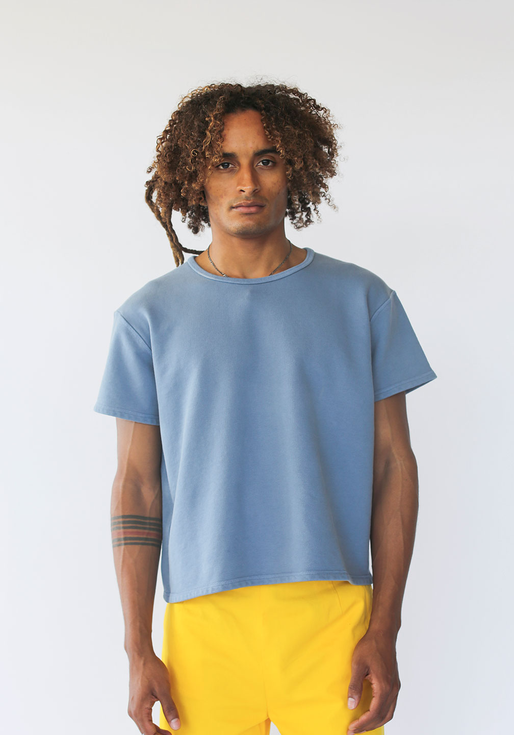 Grandfather French Terry Tee Denim