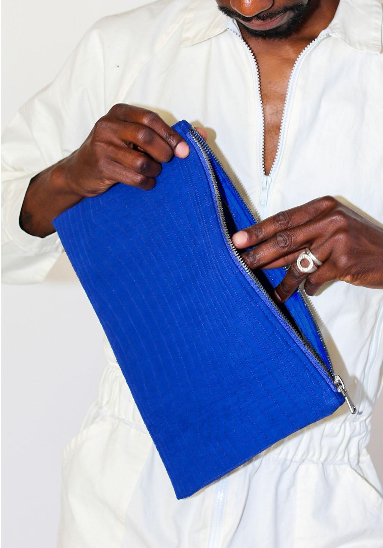 Ace Zipper Pouch Blue