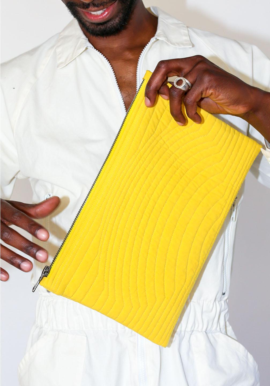 Ace Zipper Pouch Yellow