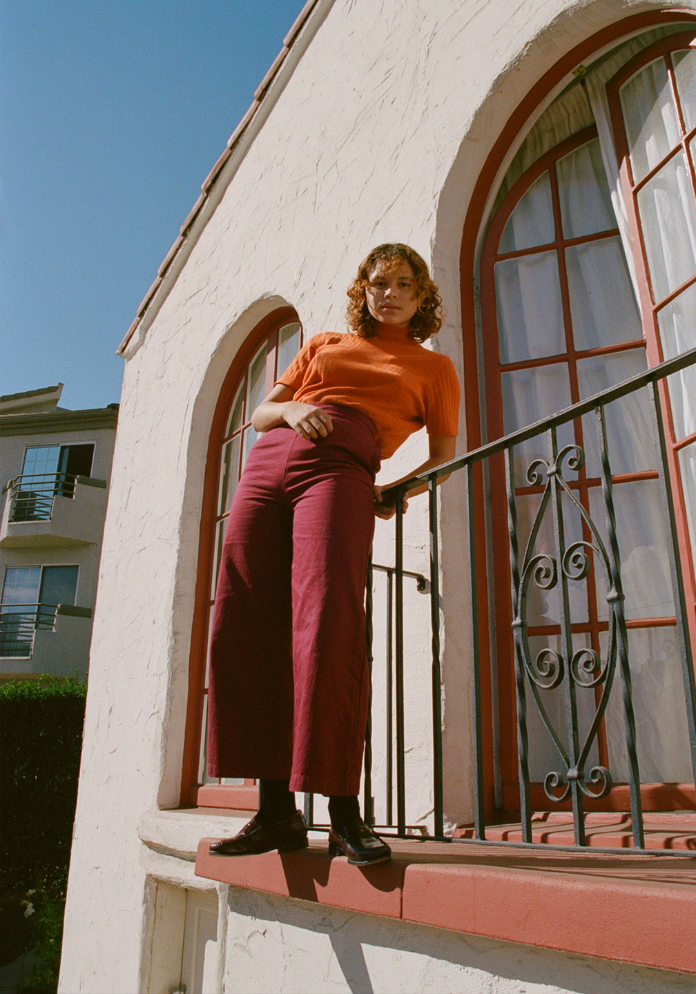 Paloma Perfect Pants Blood Orange Rotating