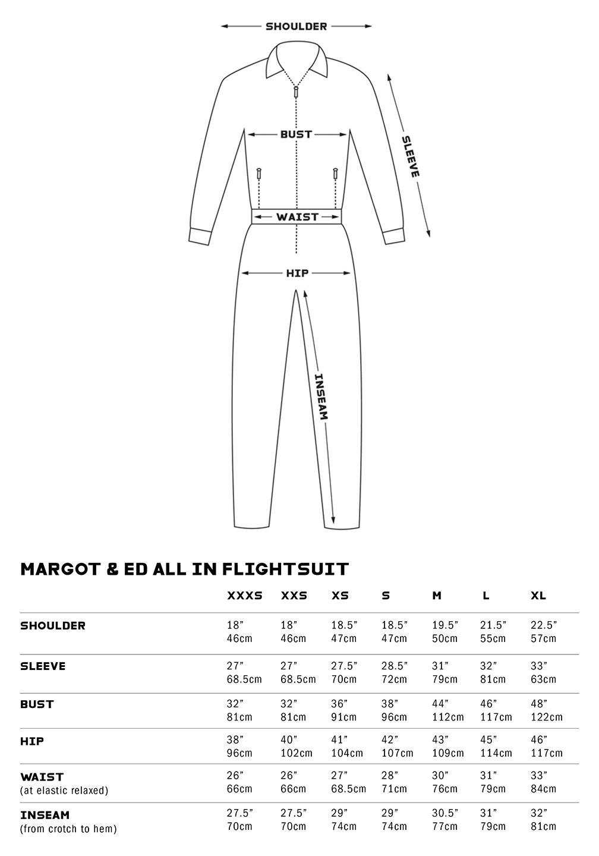 Flightsuit Size Chart