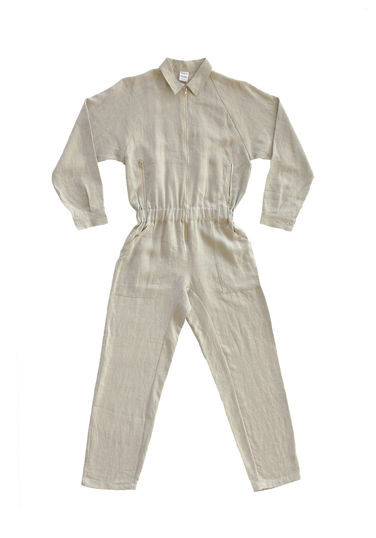 Linen Flightsuit Flax