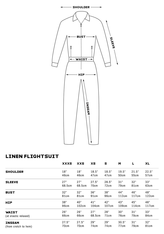 Linen-Flightsuit-Size-Chart