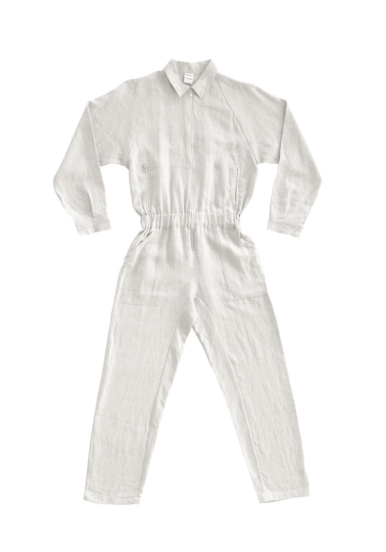 Linen Flightsuit White
