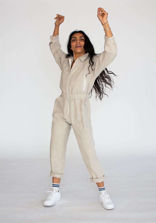 Linen Flightsuit Flax 2