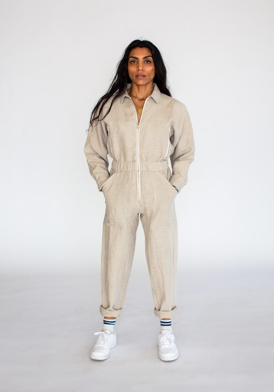 Linen Flightsuit Flax 3