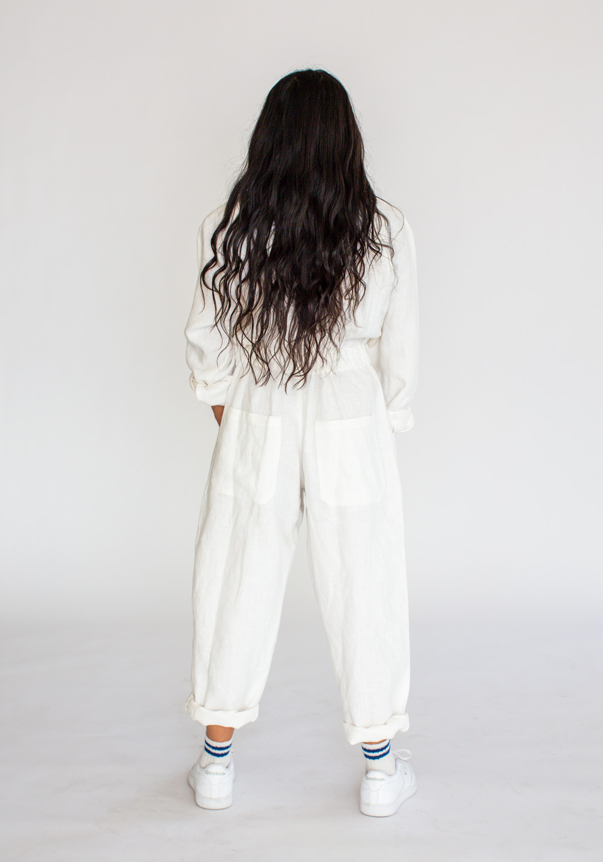Linen Flightsuit White 1