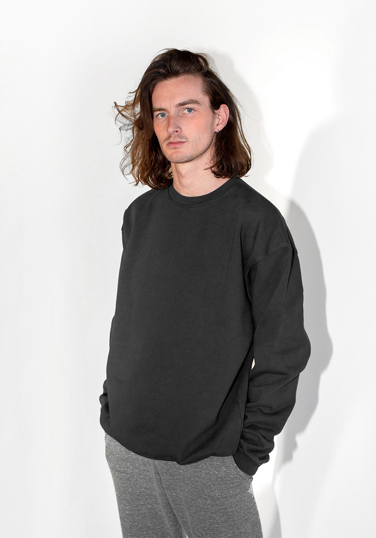 Margot and Ed Oversized Sweatshirt Faded Black