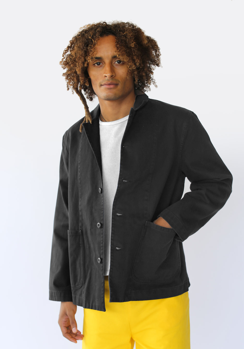 Margot and Ed Top Down Jacket Faded Black